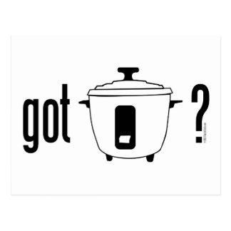 Got Rice? (cooker) Postcard