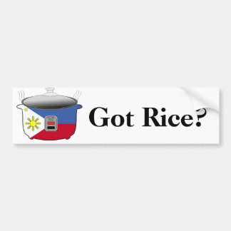 Got Rice/Filipino Rice Cooker Bumper Sticker
