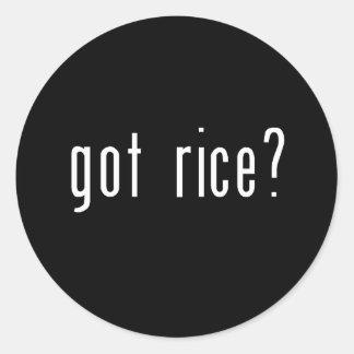 got rice? classic round sticker