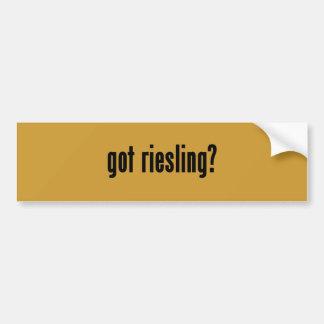 got riesling? bumper sticker