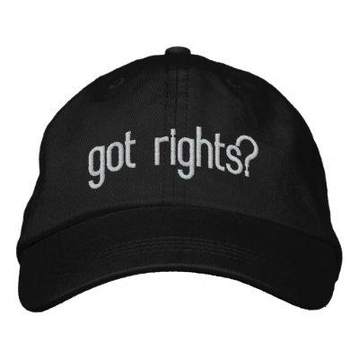 got rights? baseball cap