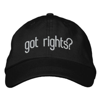 got rights? embroidered baseball cap