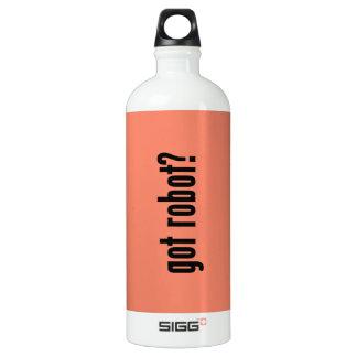 got robot? aluminum water bottle