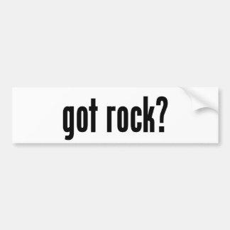 got rock? bumper sticker