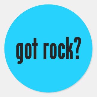 got rock? classic round sticker