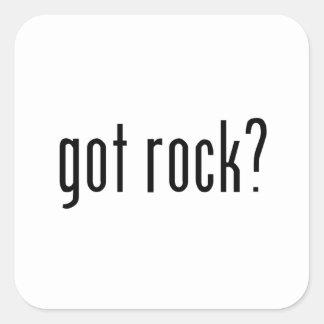 got rock? square sticker