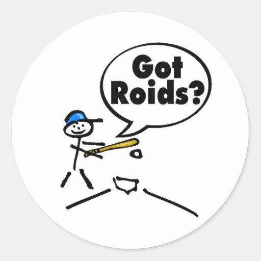 Got Roids Baseball Stickman Stickers