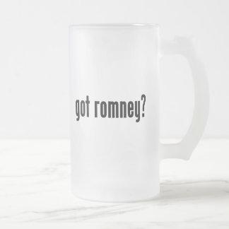 got romney? frosted glass beer mug