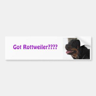 Got Rottweiler???? Bumper Sticker