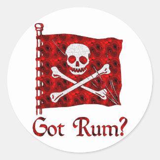 Got Rum? Classic Round Sticker
