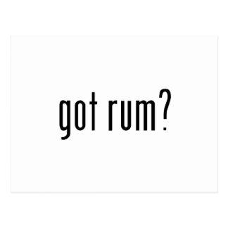 got rum? postcard