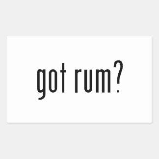 got rum? rectangular sticker