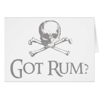 Got Rum Skull and Crossbones Card