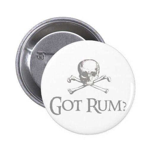 Got Rum Skull and Crossbones Pins
