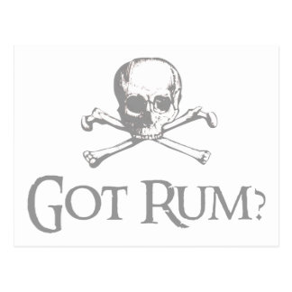 Got Rum Skull and Crossbones Postcard