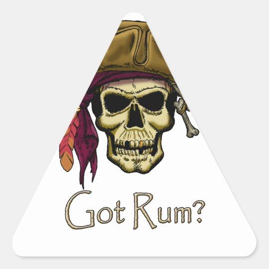 Got Rum? Triangle Sticker