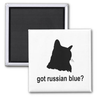 Got Russian Blue? 2 Inch Square Magnet