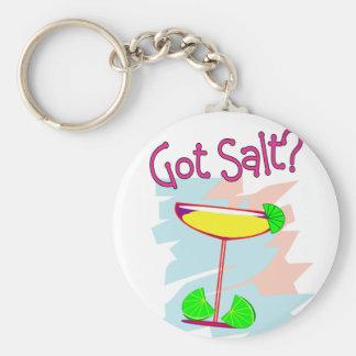 Got Salt?  Margarita Lovers T-Shirts & Gifts Basic Round Button Keychain