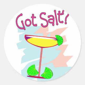Got Salt?  Margarita Lovers T-Shirts & Gifts Classic Round Sticker