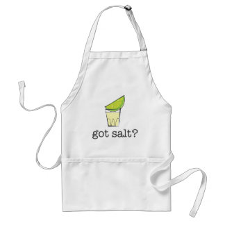 Got Salt? Tequila Shot with Lime Adult Apron
