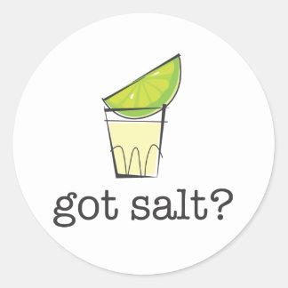 Got Salt? Tequila Shot with Lime Classic Round Sticker