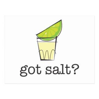 Got Salt? Tequila Shot with Lime Postcard