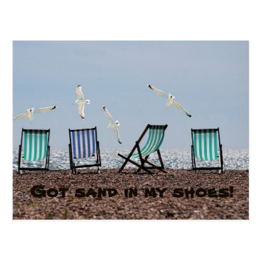 Beach Themed Got Sand In My Shoes! Postcard