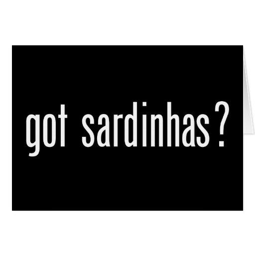 got sardinhas? greeting card