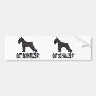 Got Schnauzer? Bumper Sticker
