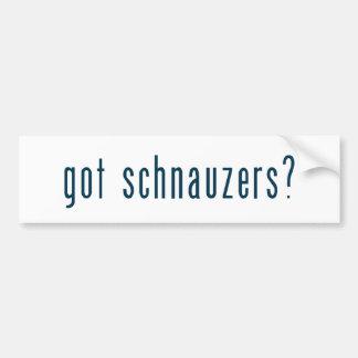 got schnauzers bumper sticker