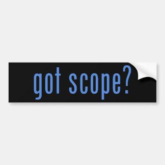 got scope? car bumper sticker