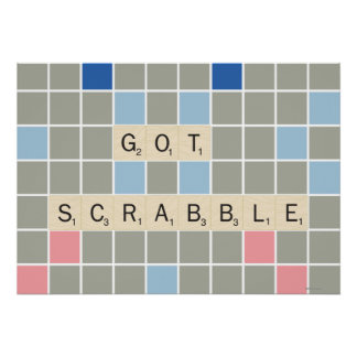 Got Scrabble Poster