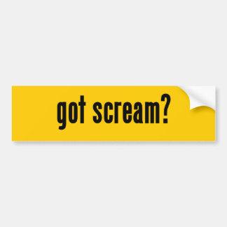 got scream? bumper sticker