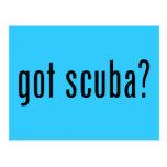 got scuba? postcard