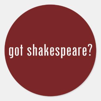 got shakespeare? classic round sticker