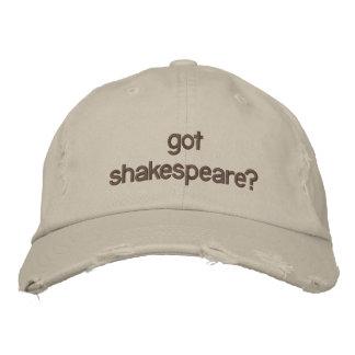 got shakespeare? embroidered baseball hat