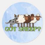 got sheep classic round sticker