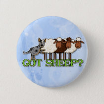 got sheep pinback button