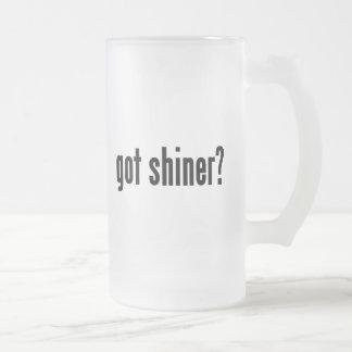 got shiner? frosted glass beer mug