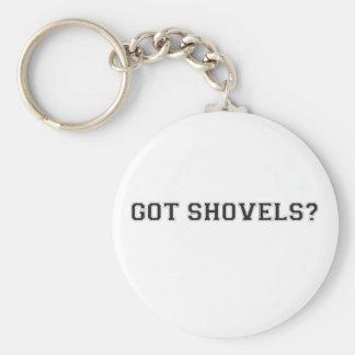 Got Shovels? Sporty Text Key Chains