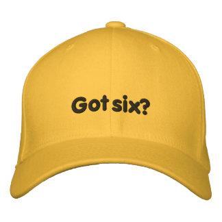 Got six? Hat Embroidered Baseball Caps