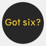 Got six? round stickers