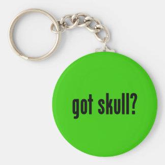 got skull? basic round button keychain