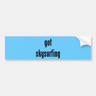 got skysurfing? bumper sticker