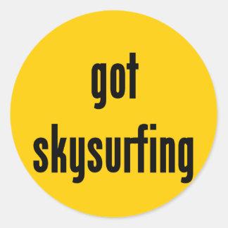 got skysurfing? classic round sticker
