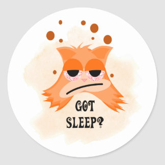 Got Sleep? Round Stickers