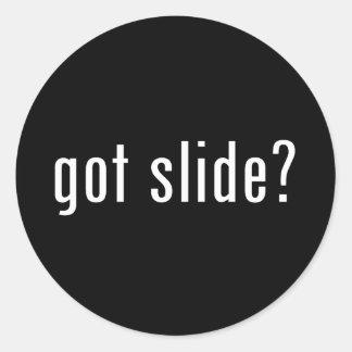 got slide? classic round sticker