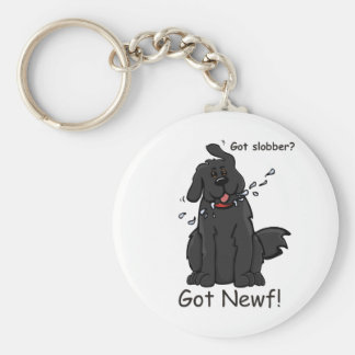Got Slobber - Got Newf! Basic Round Button Keychain