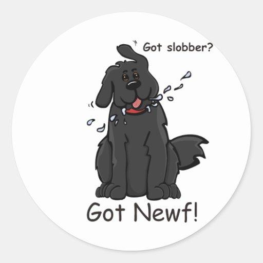 Got Slobber - Got Newf! Classic Round Sticker