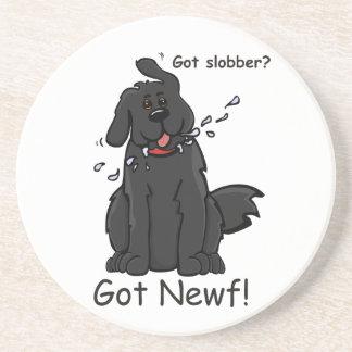 Got Slobber Got Newf! Drink Coaster